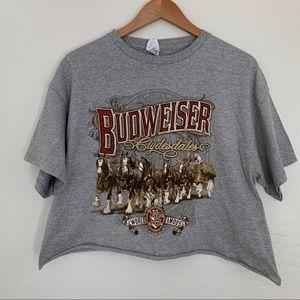 Budweiser oversized crop top T-shirt